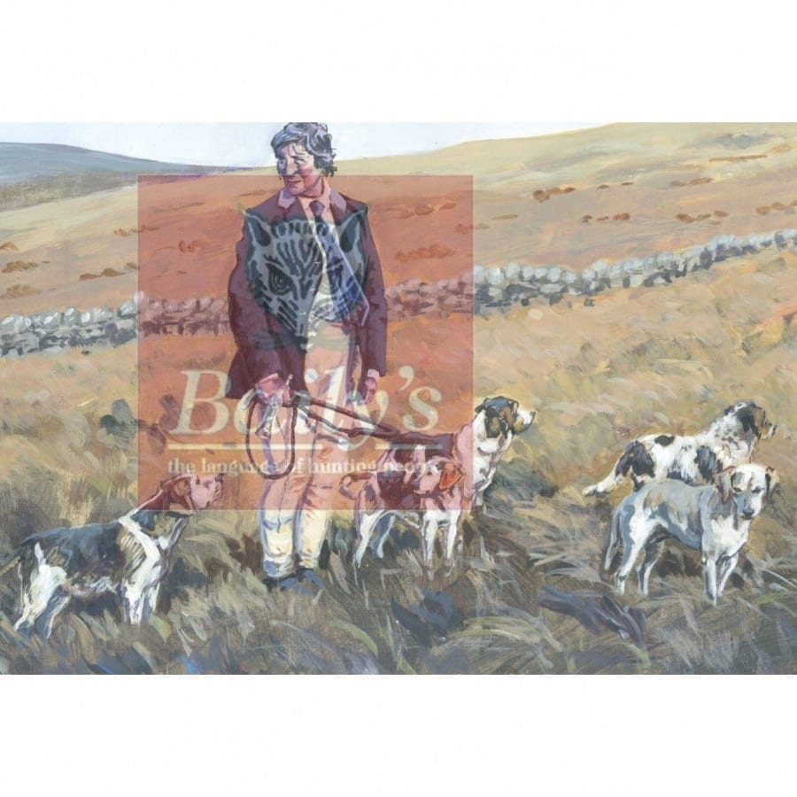 Limited Edition Liam Clancy Artwork Commissioned for the Bailys Hunt Report Book (Mounted) Barony Bassets